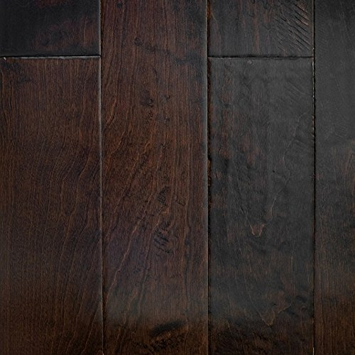 Birch espresso hand scraped prefinished engineered wood for Birch wood cost