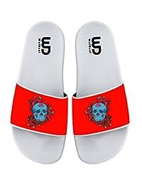 Sugar Skull Day of the Dead Rose Summer Non-slip Slide Sandals Home Shoes Beach Swim Indoor and Outdoor Slipper Women Men