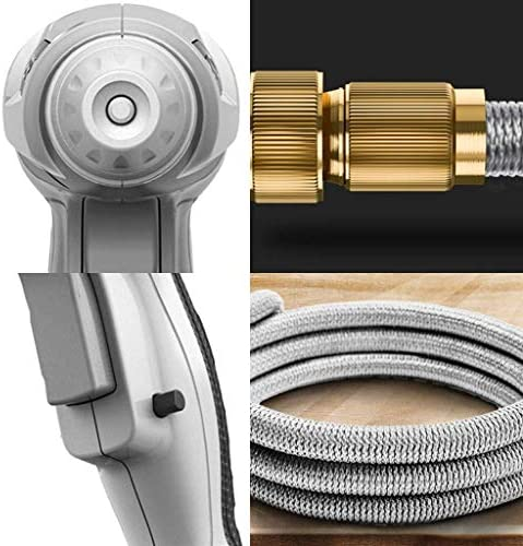 WZJN Expandable Garden Hose with 3 Faucet Adapters and 3 Function Spray Nozzle for Garden Watering Car Washing House Cleaning (Size : 7.5m+Foam kettle)