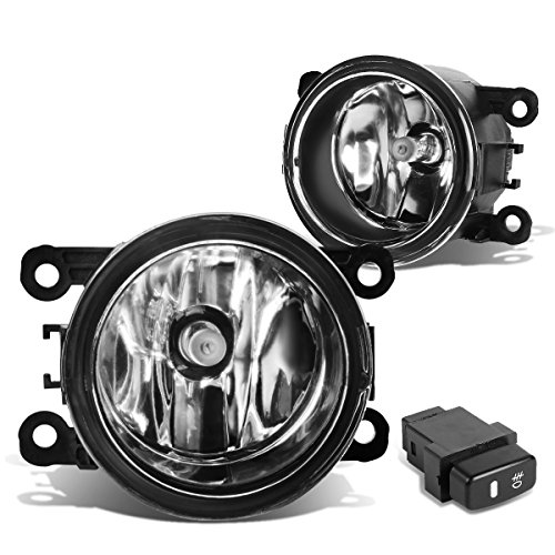 For Mitsubishi Montero Sport Pair of Bumper Driving Fog Lights + Wiring Kit + Switch (Chrome ()