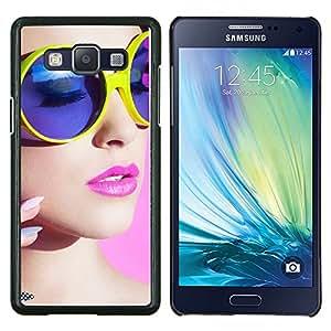 Cubierta protectora del caso de Shell Plástico    Samsung Galaxy A5 ( A5000 )    stil devushka makiyazh ochki @XPTECH