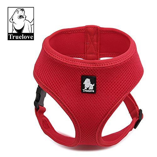 13' Harness (Mesh Breathable Vest Dog Harness with 3M Reflective trim (SM, Red) size =11.8'-16.5')