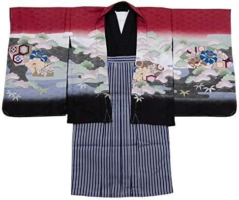 七五三 着物 男の子 五歳 13点フルセット 羽織袴セット 鷹 ブルー 水色 3510-00011-2
