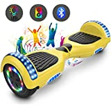 Cool&Fun 6.5 Inch Hoverboard for Kids Two Wheel Self Balance Scooter UL 2272 Certified,LED Bluetooth Speakers 350W