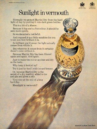 1969 Ad Martini Dry Vermouth Decanter Italian Italy - Original Print Ad (Martini Rossi Dry Vermouth)