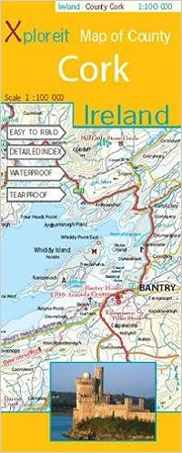 Map Of Cork County Ireland.Xploreit Map Of County Cork Ireland Amazon Co Uk Xploreit Map