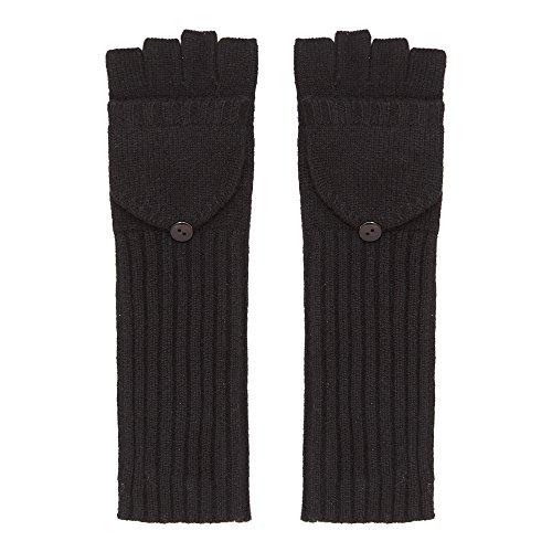 Long Cashmere Gloves, Black