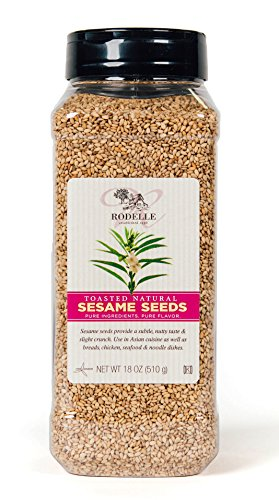 (Rodelle Toasted Natural Sesame Seeds, 18 Ounce)