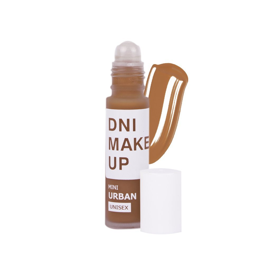 Maquillaje unisex fluido Long lasting, Mini Urban, 10ml nº 4, tono piel morena, DNI MAKE UP