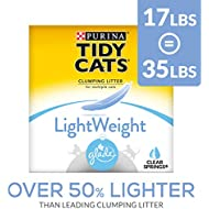 Purina Tidy Cats Light Weight, Low Dust, Clumping Cat Litter, LightWeight Glade Clear Springs Multi Cat Litter - 17 lb. Box