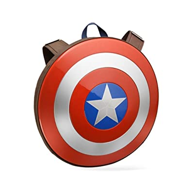 free shipping PPolive Riot Shield Cosplay of Captain America1:1 Prop Replica Shield Backpack school bag (Backpack 18.5IN)