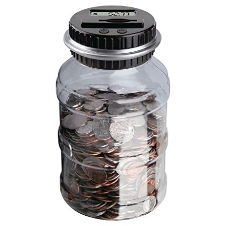 Amazoncom Sharper Image Coin Counting Jar Kitchen Dining