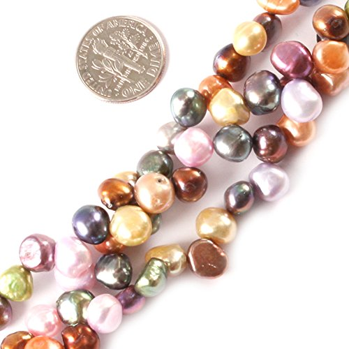 Oval Freshwater Cultured Pearl Bracelet (Joe Foreman 7-8mm Dyed Freshwater Cultured Pearl Oval Freeform Loose Beads For Jewelry Making Wholesale Beads Multi 15