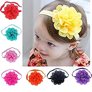 TRENDINAO 8PCS Kids Baby Girls Boys Newborn Flower Photography Props Headband Accessories