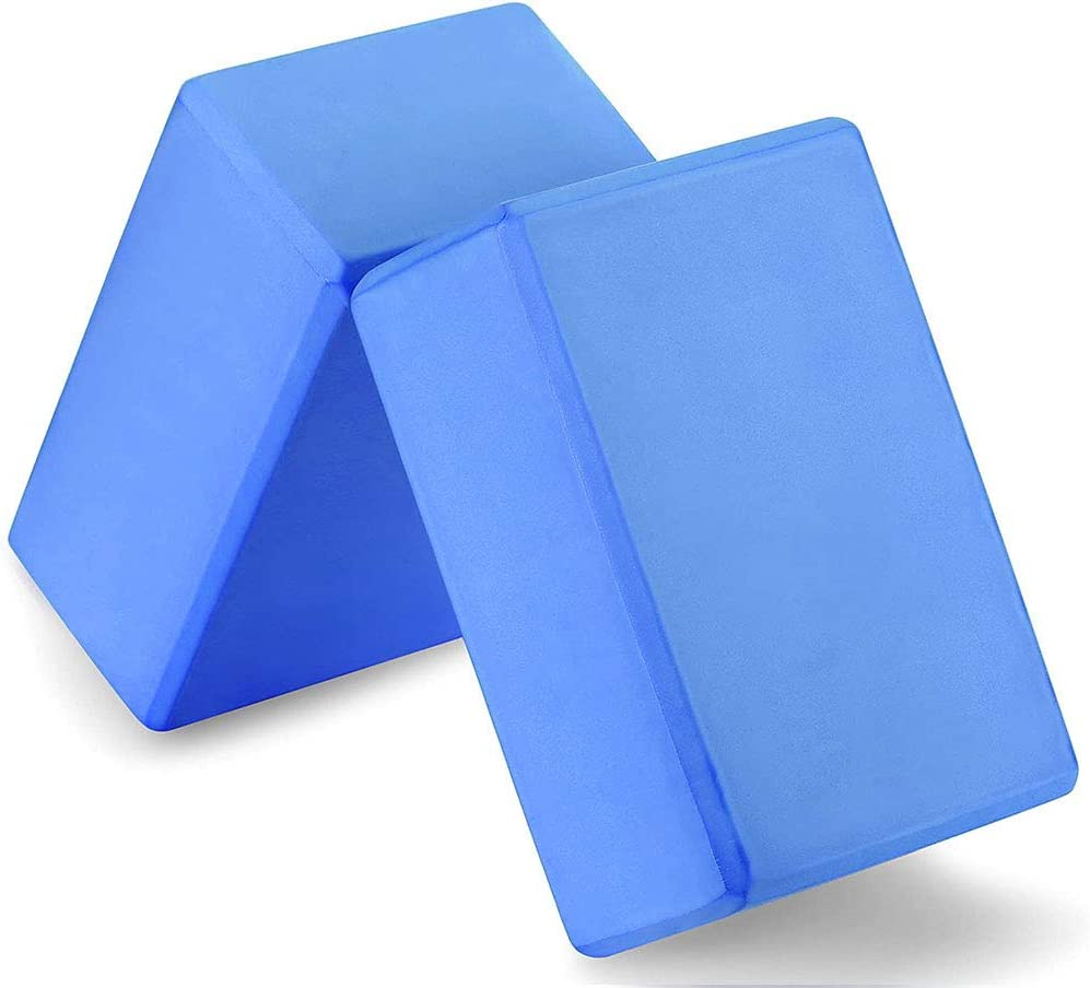 Ideal for Yoga Workout YoTelim Yoga Block 2 Pack Soft EVA Foam Yoga Bricks Pilates Non-Slip Surface Provides Stability and Balance Meditation