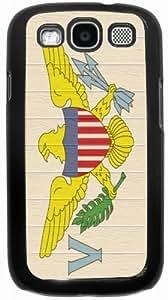 Rikki KnightTM Virgin Islands Flag on Distressed Wood - Black Hard Case Cover for Samsung? Galaxy i9300 Galaxy S3