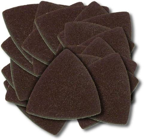 20 pieces 3inch Triangular Sandpaper with Hook and Loop Backing Grit 320