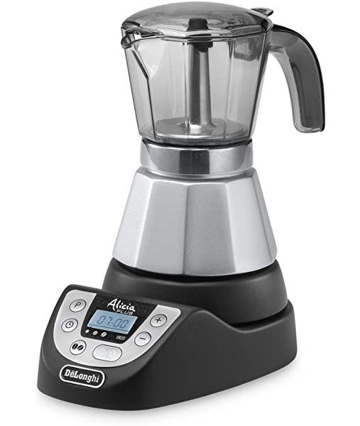 DeLonghi EMKP42.B - Cafetera moka eléctrica, 450 W, 1 L, plástico ...