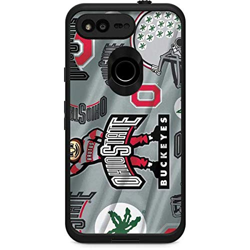 Skinit Ohio State Pattern LifeProof Fre Google Pixel XL Skin for CASE - Officially Licensed Ohio State University Skin for Popular Cases Decal - Ultra Thin, Lightweight Vinyl Decal Protection