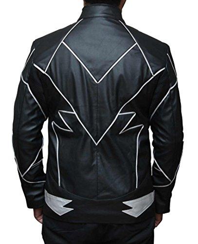 Decrum The Flash Zoom Men's Black Leather Jacket M by Decrum (Image #2)