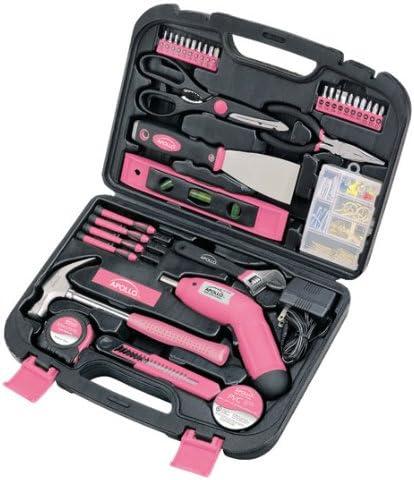 Apollo Tools Household Tool Kit, Pink