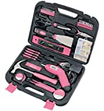 Apollo Tools DT0773N1 Household Tool Kit, Pink, 135-Piece, Donation Made to Breast Cancer Research