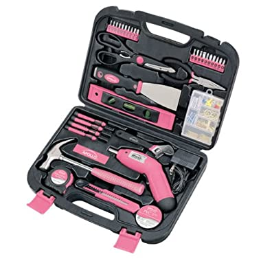 Apollo Precision Tools DT0773N1 Household Tool Kit, Pink, 135-Piece, Donation Made to Breast Cancer Research