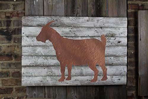 Miraculous Amazon Com Rusty Goat Farm House Home Decor Initials Home Interior And Landscaping Spoatsignezvosmurscom