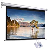 ReaseJoy 72' Diagonal Electric Motorized Projector Screen 16:9 Matte White with Remote Control 159.4x89.6cm