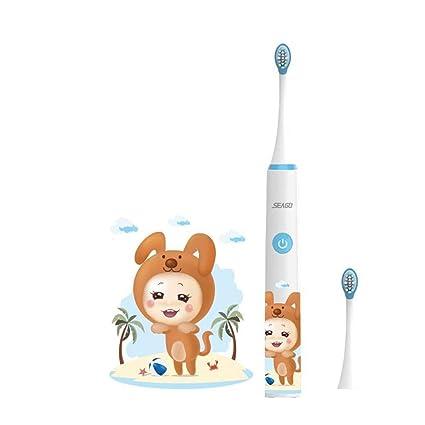 YAHRC El cepillo de dientes eléctrico para niños recargable 3-6-12 años de