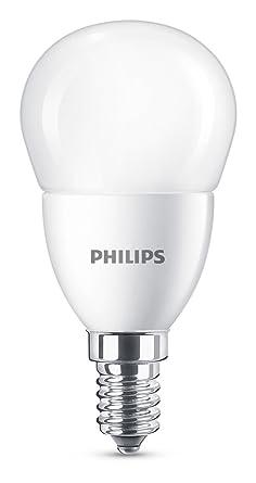 Philips bombilla LED esférica mate casquillo fino E14, 7 W equivalentes a 60 W en