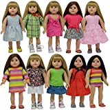 18 Inch Doll Clothes Set of 13 pc for American Girl Doll Clothing (Set of 13 pc)
