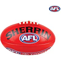 Sherrin Leather AFL Replica Training Football Red
