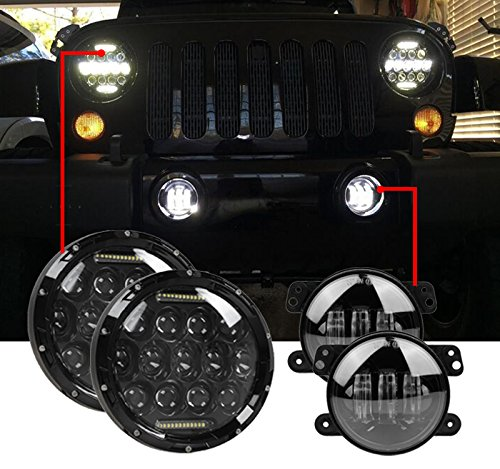 Black Driving Headlights Lights 97 2017 product image
