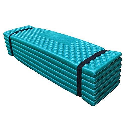 ezyoutdoor Folding Camping Mat Moisture-proof Folding XPE Foam Pads Mat for Camping Park Picnic Portable Cushion Seat Foam Camping Mat Damp-proof Mattress Sleeping Pad in Tent