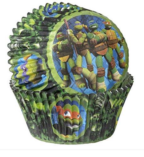 Teenage Mutant Ninja Turtles cupcake, cup cake cases (50pk)