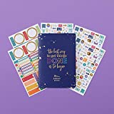 Erin Condren Budget Book Bundle with Stickers(Includes Petite Planner w/Illustrative and Functional Stickers