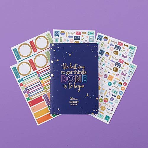 Erin Condren Designer Petite Planner Budget Book Bundle - Includes Petite Planner and Illustrative and Functional Stickers