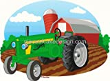 1/4 Sheet - Farm Tractor Birthday - Edible Cake/Cupcake Topper