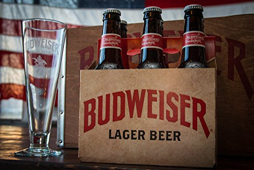 wooden budweiser beer - 1
