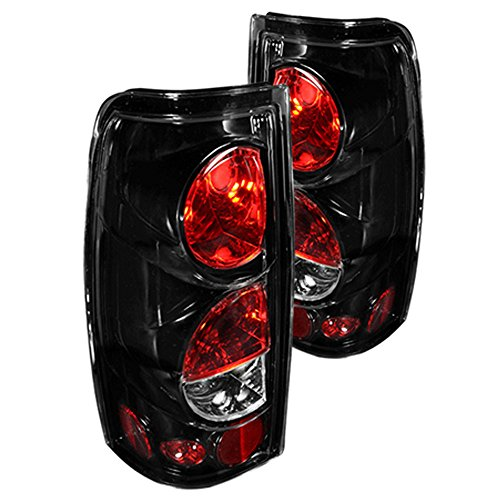 Winjet WJ20-0004-16 Taillights Lamps Replacement for 1999-2006 Chevy Chevrolet Silverado 1999-2002 GMC Sierra 1500 2500 3500 Factory Glossy Black/Clear Lens Tail Lights