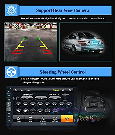 Amazon 7 inch 2 din mirror link for android gps navigation amazon 7 inch 2 din mirror link for android gps navigation phones in dash car stereo radio hd 1024 600 capacitive muti touch screen without dvd player fandeluxe Images