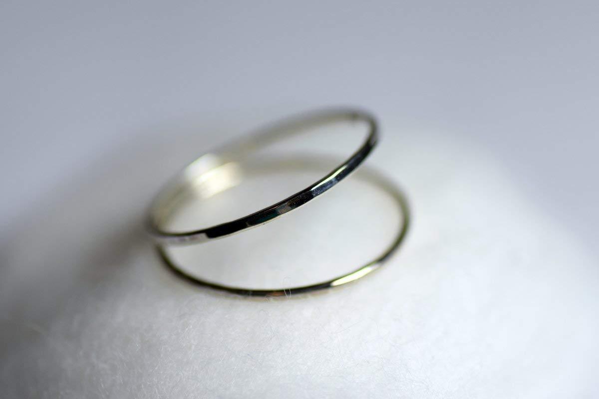 Schöner zarter verspielter Ring   Doppelring Silber (925) für Damen und Herren zum Verschenken und Sich-eine-Freude-machen