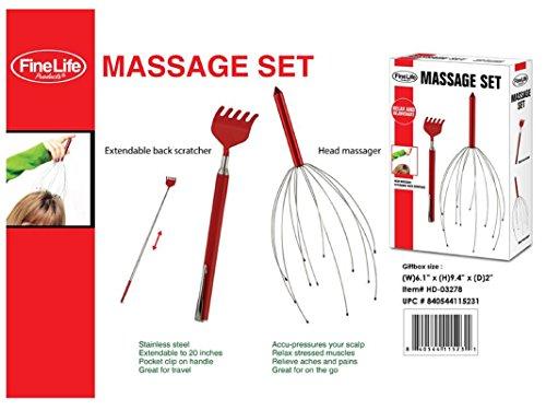 Finelife BACK SCRATCHER + HEAD MASSAGER COMBO (Accu Pressure Massager)
