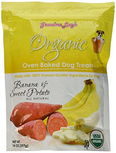 Grandma Lucy'S - Organic Baked Dog Treats - Banana & Sweet Potato - 14Oz