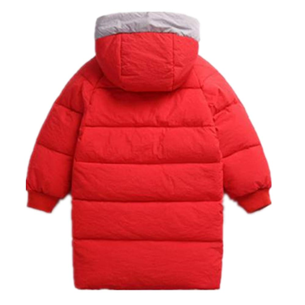 Baby Girls Hooded Parka Winter Down Coat Puffer Jacket Mid-Length Windproof Outerwear Warm Padded Overcoat