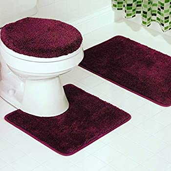 Amazoncom Piece Bath Rug Set Pattern Bathroom Rug X - Quality bath rugs for bathroom decorating ideas