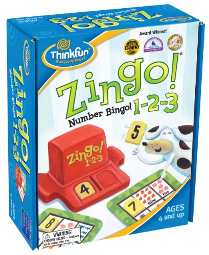 Counting Kindergarten Game - ThinkFun Zingo 1-2-3 Number Bingo Game for Age 4 and Up - Award winner and Toy of the Year Nominee