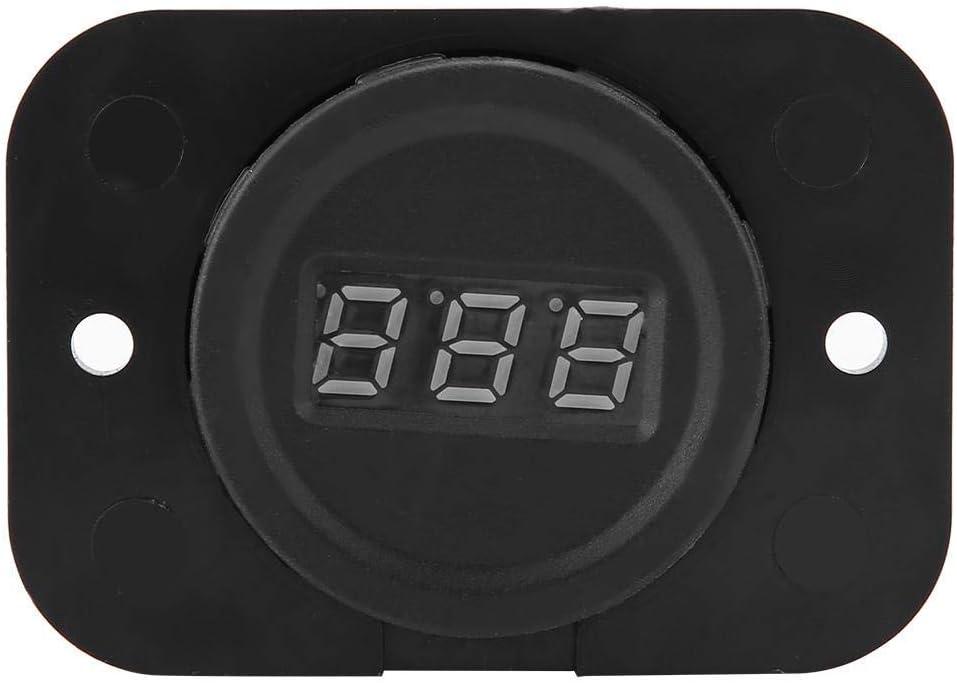 Voltímetro digital LED, Medidor de voltaje AC 4-36V, Probador de voltios para motocicletas de automóviles, Indicador de voltaje de pantalla digital Conexión anti-retroceso (Luz de fondo amarilla)