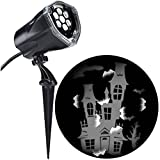 Halloween White LED Haunted House 2 in 1 Light Projector Lamp, 5 Inch
